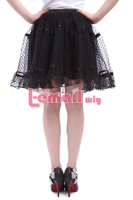 Snow Net Yarn Women's Black Mini Ballet Will Short Skirts GC94