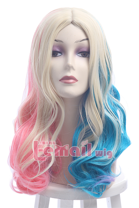 Suicide Squad Harley Quinn Long Wavy Fashion Wigs ML239