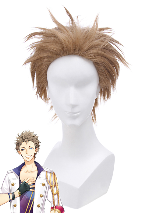 Tsukiuta Fuduki Kai July Short Light Brown Cosplay Wigs CB88 CB88