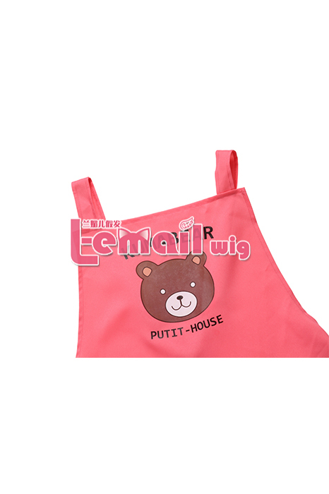 Unisex Adjustable Pink Chef Kitchen Apron With Cute Bear GC97
