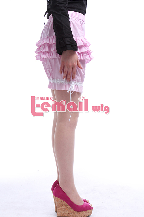 Woman Free Size Pink Mid Thigh Cotton Spandex Active Bloomers GC