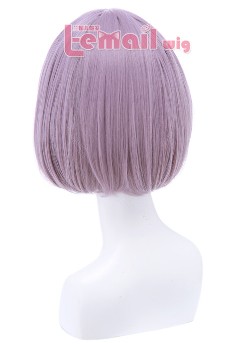 30cm Short Bob Straight Grey Cosplay Wigs CB47G