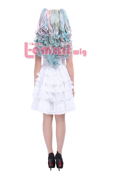 65CM Lolita Multi color long clip-on wave cosplay wig zy133