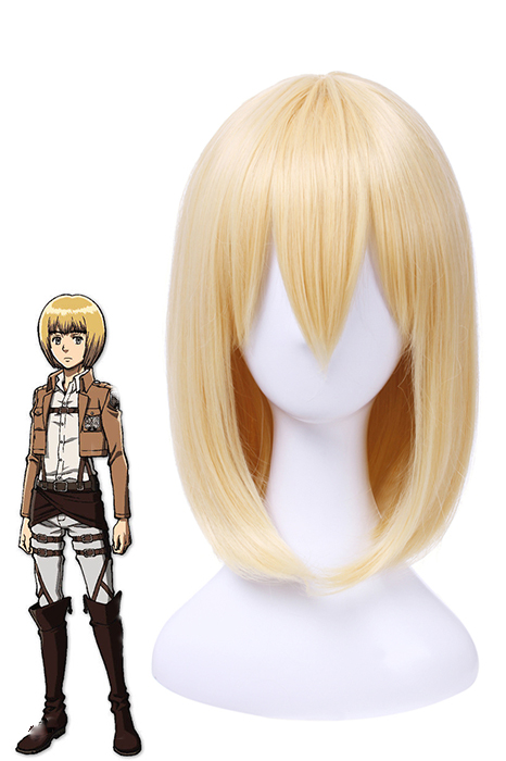 35cm Attack on Titan Armin Arlart Bob golden cosplay hair wig ZY40