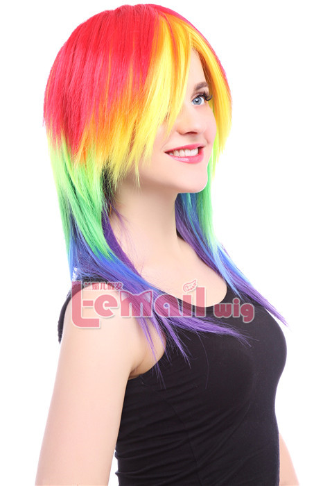 53cm Colorful My Little Pony Friendship Is Magic cosplay wig