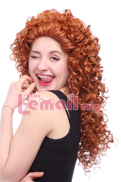 75cm Long Wave Brave MERIDA Movie Disguise Cosplay Hair Wig cb38 cb38