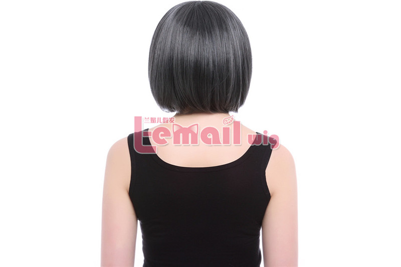 30CM SHORT BOB MORE BEAUTIFUL Deep Gray COLOR COSPLAY HAIR WIG