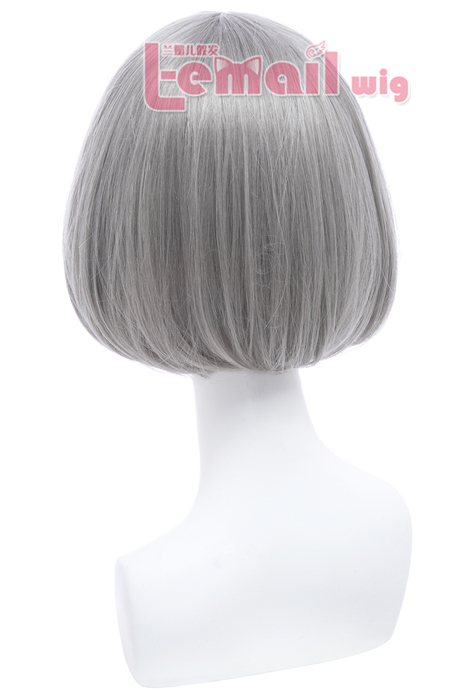 30cm Short Bob Straight Grey Cos play Hair Wigs