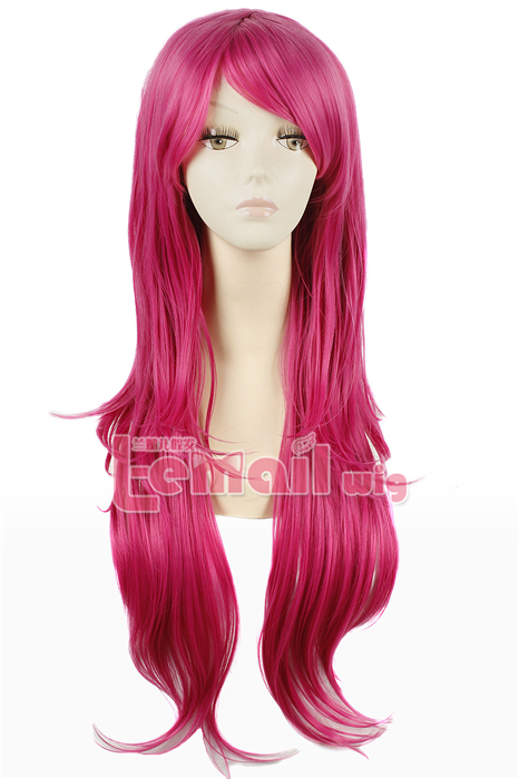 80cm long Rose Carmine Nase Mitsuki straight cosplay hair wig CW109C