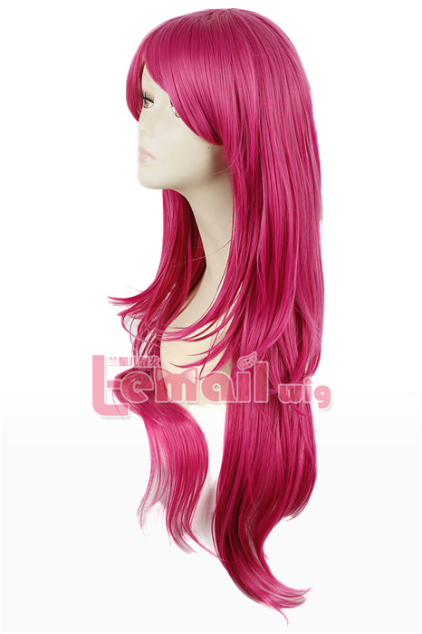 80cm long Rose Carmine Nase Mitsuki straight cosplay hair wig