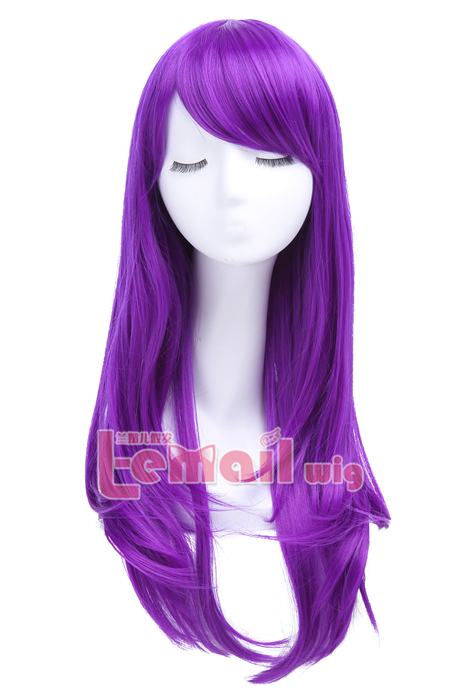 60cm Long Purple Anime Straight Cosplay Party Wig CW143P