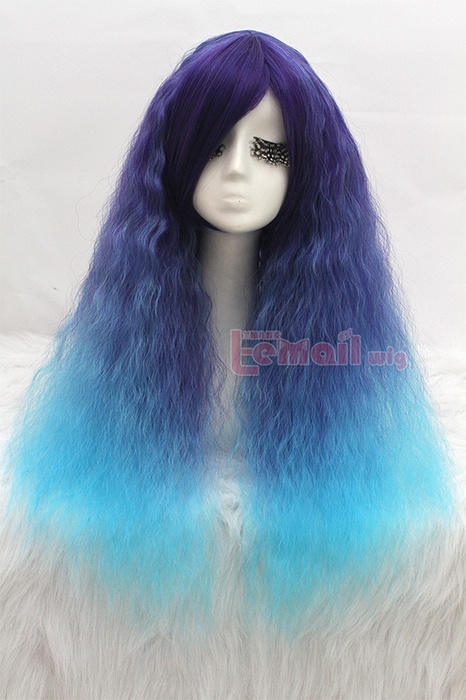 70cm long Rhapsody multi-color curly wave cosplay wig CW204D