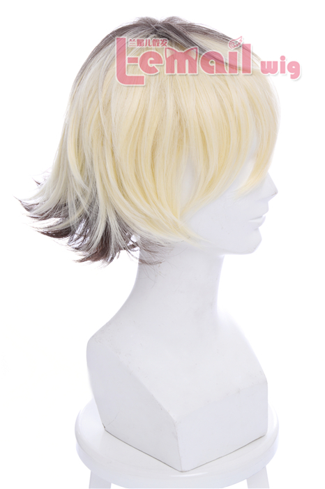 30cm Long Anime Multicolour Dip Dye Short Straight Cosplay Wigs