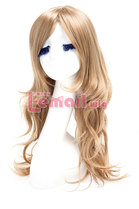 Top quality synthetic 60cm long flaxen beauty women hair wig