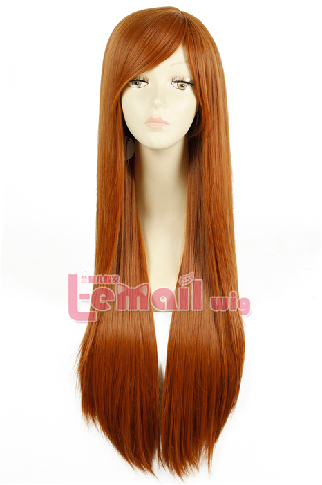 80cm Long Straight light brown Fashion Hair Wig FL41B