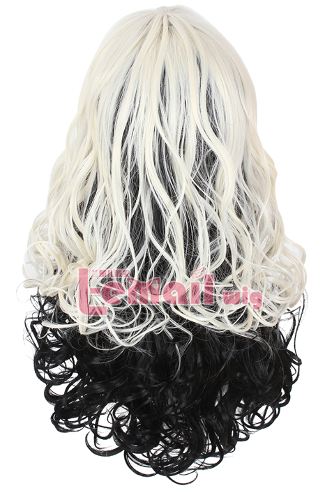 60cm Long Wave Curly Blonde Fade Black Fashion Women Hair Wig