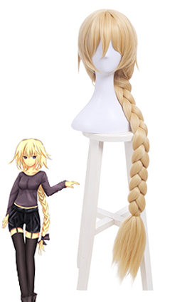 Fate Grand Order Joan of Arc Braid Blonde Long Cosplay Wigs ML256