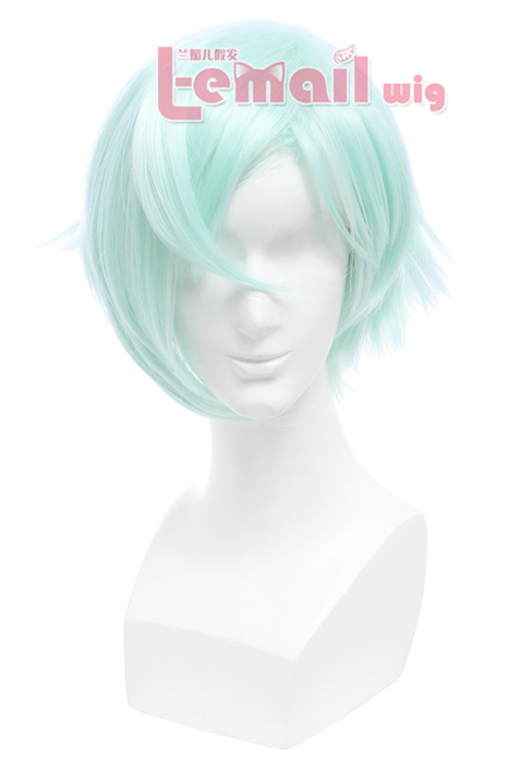 Touken Ranbu Higekiri Short Powder Blue Cosplay Wigs