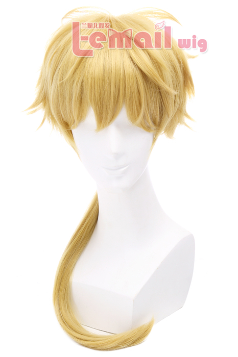50cm Golden Kunikida Long Bungo Stray Dogs Cosplay Wig JF-0330 JF-0330