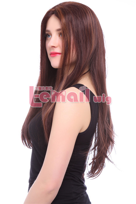 70cm long straight women mixed color lace front wig Brazilian