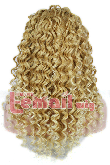 22 Inch Brazilian Mixed Golden&Blonde curly wave lace front wig