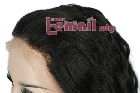 22 Inch Women Natural Black curly Brazilian lace front wig