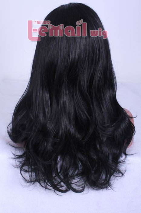 50cm long wave black women Brazilian lace front wig