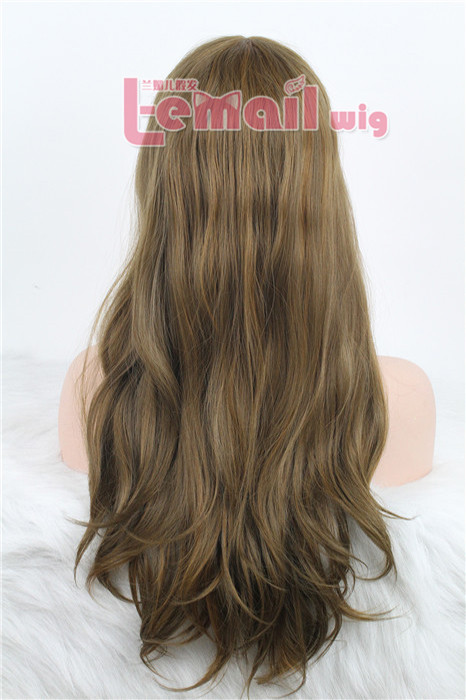 70cm long straight women invisible part carve lace front wig