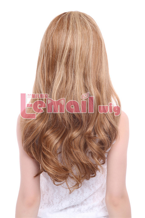 70cm long Mix Color Brown and Blonde Lace Front Wig for women
