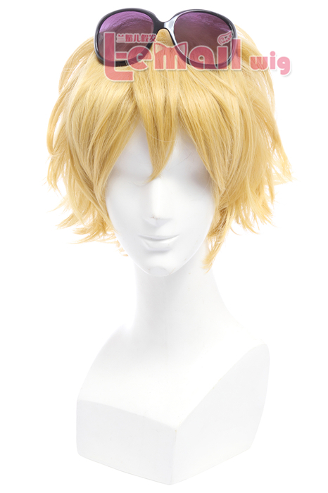25cm short yellow League of Legend Ezreal cosplay wig ML06-1