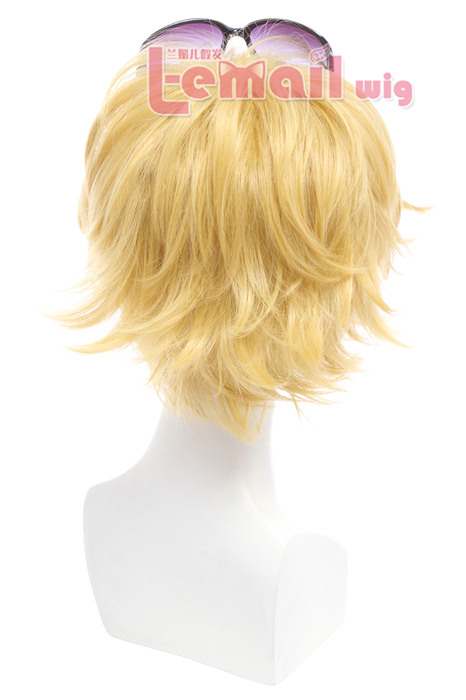 25cm short yellow League of Legend Ezreal cosplay wig
