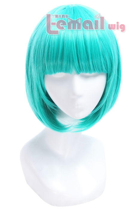 30cm New style Short Bob straight Teal Green cosplay hair wig ML162