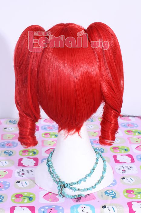 30cm short kasane teto cosplay wig with two clip ponytail ml163