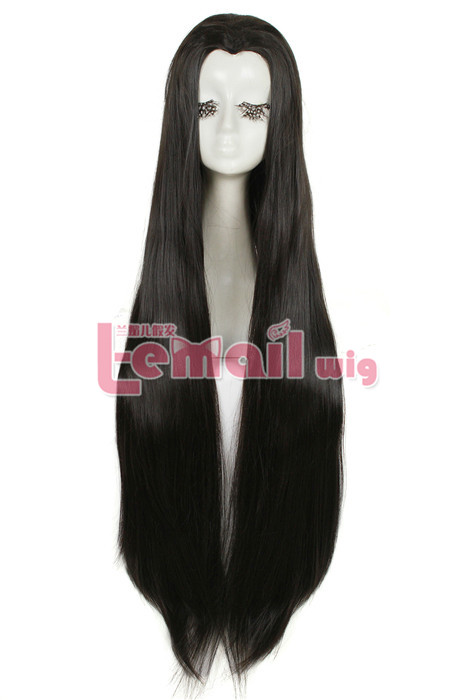 New Beauty tip Cosplay Wig Black Straight Widow's peak Wig ML205