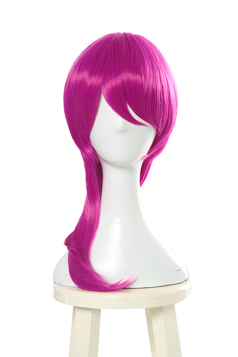 LOL Evelynn Long Braid Hot Pink Cosplay Wigs