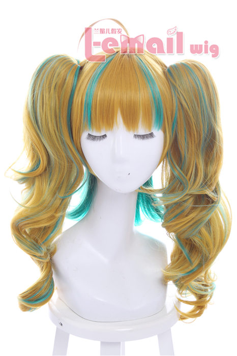 Kiznaiver Niyama Nico 40cm Medium Curly Multicolor Fashion wigs