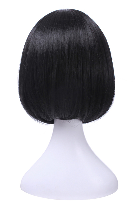 Attack on Titan Mikasa·Ackerman Short Black Hair Straight Wigs