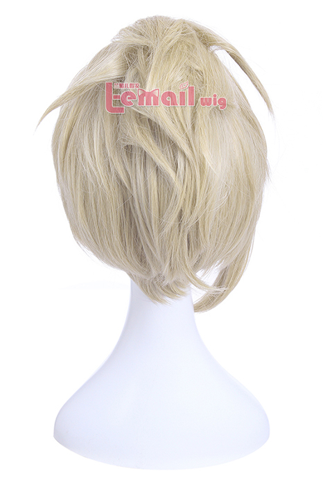 Overwatch Heroes Angela Mercy Short Beige Cosplay Wigs zy214