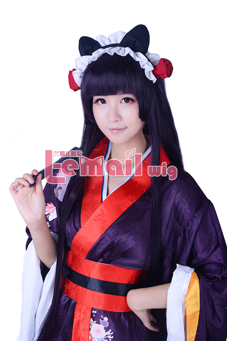 Inu x Boku SS Shirakiin Ririchiyo Anime Synthetic Hair Long Stra