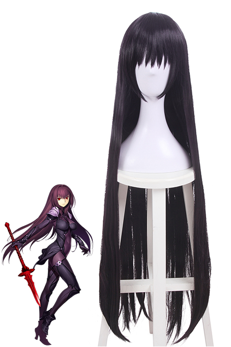 Fate Scathach Long Straight Dark Purple Cosplay Wigs RW140-1