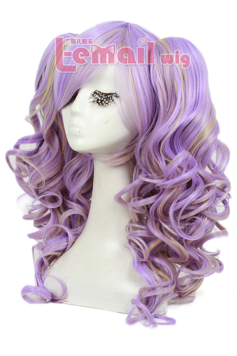 55CM multi color wig lolita hair clip on ponytails hair wig