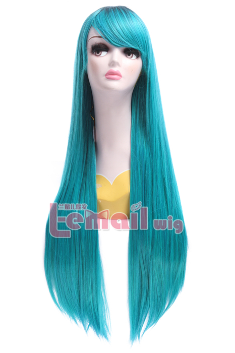 Women Long Straight Mixed Color Cosplay Wig ZY196 ZY196