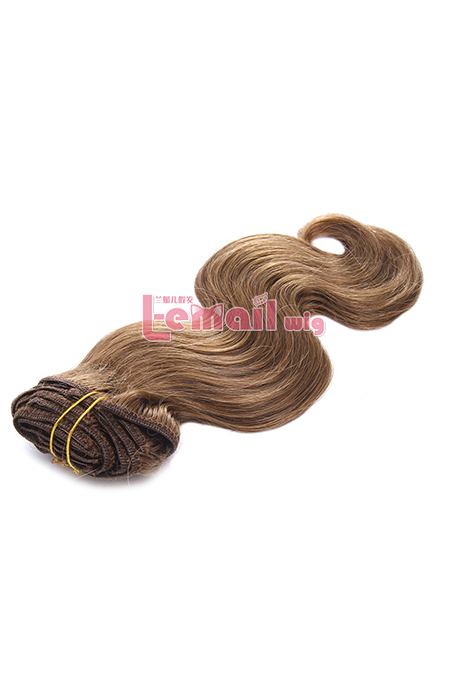 12inch Body Wave Brown Human Hair Clip-In Hair Extension 100g