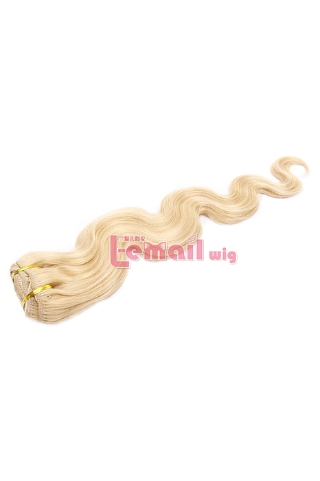 18inch Body Wave Blonde Golden Human Hair Clip-In Hair Extension