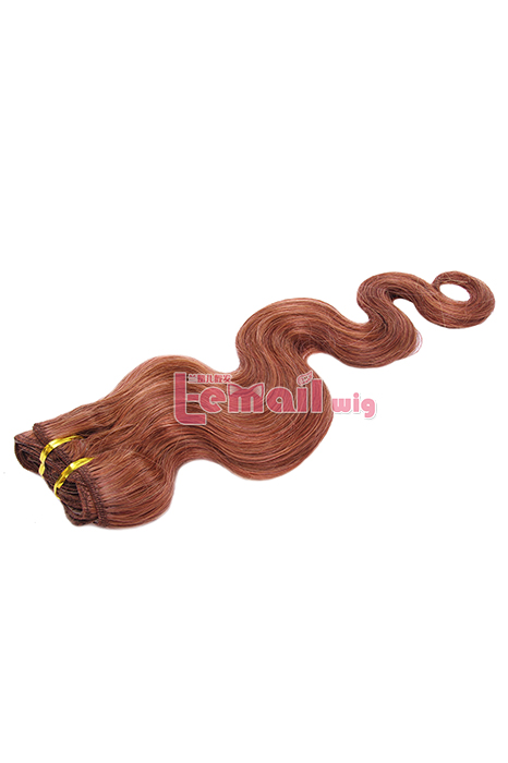 18inch Body Wave Wine Red Human Hair Clip-In Hair Extension 100g