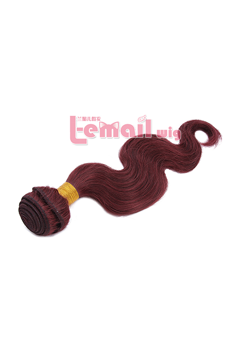16inch Body Wave Wine Red Human Hair Extension 100g YHWFBW100-16