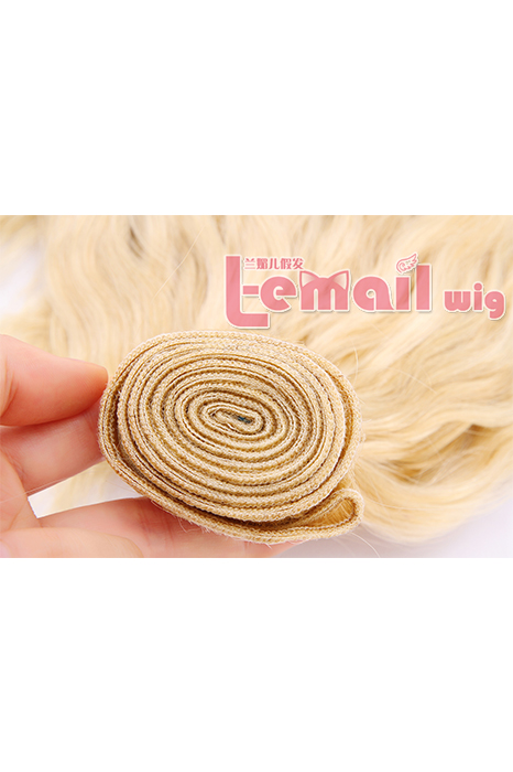 16inch Curly Blonde Human Hair Extension 100g