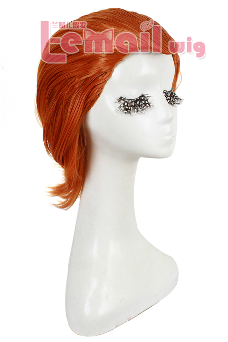 Hot movie X-men beautiful orange 35cm cosplay hair wig