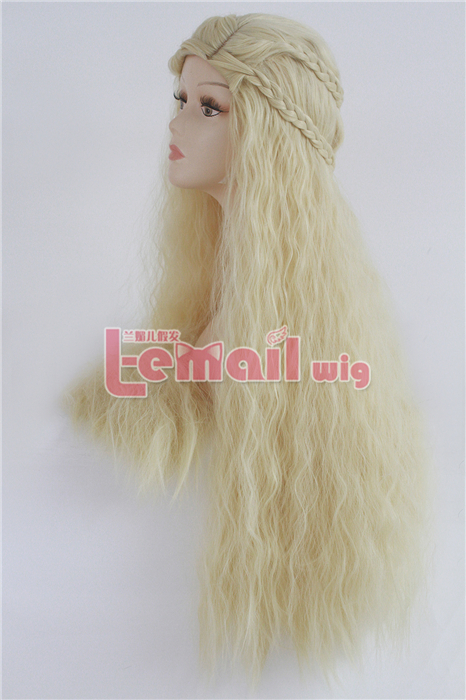90cm Long curly GAME OF THRONES DAENERYS TARGARYEN COSPLAY WIG
