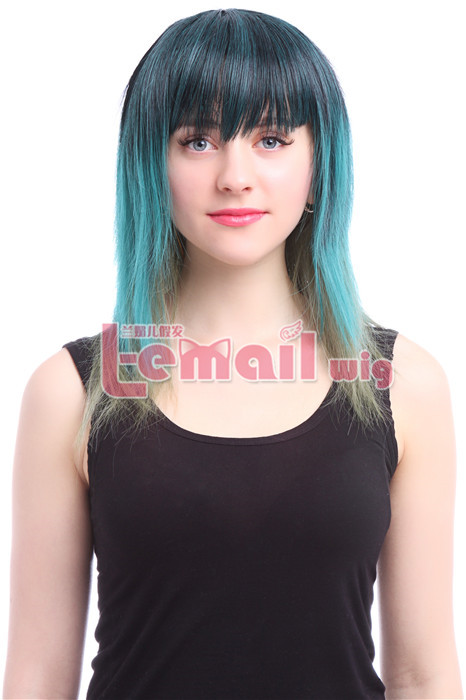 45cm Medium Mixed Color Cosplay Hair Wig ZY190 ZY190